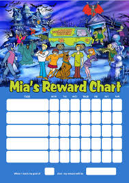 Personalised Scooby Doo Reward Chart Adding Photo Option Available