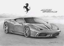 Disegni da colorare la nostra selezione di auto italiane i vostri bambini con questa selezione di disegni da colorare di auto italiane consumeranno sicuramente il pennarello rosso citando la celebre farse di enzo ferrari che disse: Disegno A Penna Ferrari 458 Italia Speciale Sports Car Art Sports