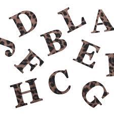 Felt Leopard Print Iron On Letters