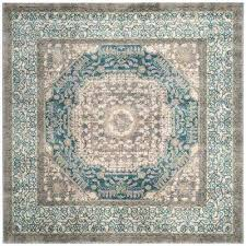 light gray blue 7 ft x square area rug rugs 9x9 n