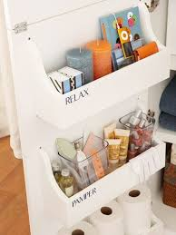 build enclosed shelves and install them behind your sink or vanity cabinet s door