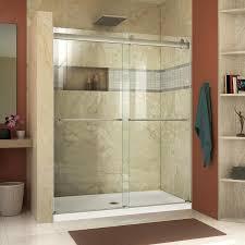 dreamline essence 56 in to 60 in w frameless brushed nickel sliding shower door