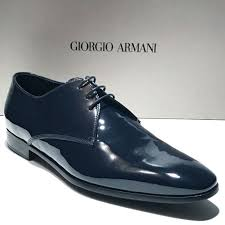 frequently bought together giorgio armani navy blue patent leather