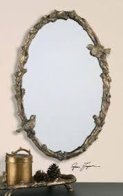 uttermost paza oval vine gold mirror powder room vanity 22w x 34hx3 d