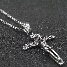 cross pendant silver chain charm stainless steel necklace at banggood sold out