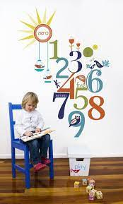 almond tree designs numbers wall
