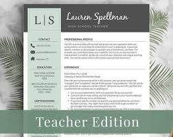 Educator Resume Template Mesmerizing Teacher Resume Etsy