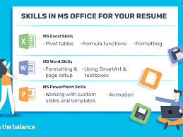 Microsoft Excel Resume Template Microsoft Office Skills For Resumes Cover Letters