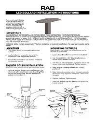 Bollard Foundation Design Led Bollard Installation Instructions Manualzz Com