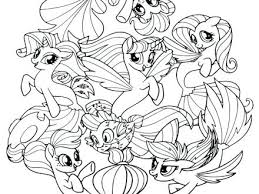 My Little Pony Outline Drawing At Getdrawingscom Free For