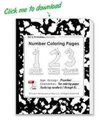 Tell your child to use the color key at the. Printable Number Coloring Pages Free Preschool Coloring Pages