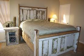 bedframe of doors headboard reclaimed barn wood reclaimed rustics vine door headboard