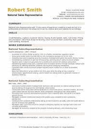 skills for sales representative resume national sales representative resume samples qwikresume