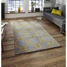 hong kong hk 4338 grey yellow rug by think rugs