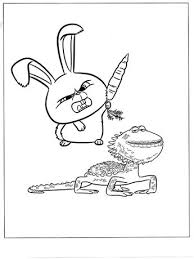 Buddy Pdf Printable Coloring Page The Secret Life Of Pets