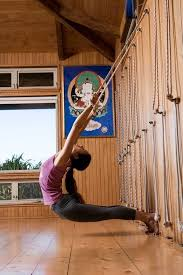 maya yoga studio in maui hawaii is a brilliant retreat for a yoga teacher or intensive check out this rope wall props galore in this yoga oasis
