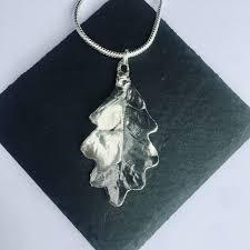 oak leaf pendant pewter ful