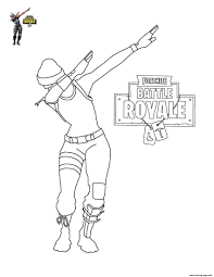 Print Fortnite Dab Coloring Pages For The Kids In 2019 Free Kids