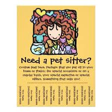 Pet Sitter Business Cards Pet Sitter Flyer Pet Sitter Sitting Personalized Tear Sheet In 2018