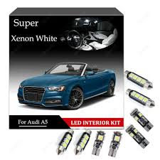 Audi A5 Interior Led Lights Details About For Audi A5 B8 S5 Rs5 Sportback Premium Led Interior Kit 16 Bulb White Canbus