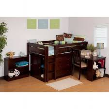 canwood whistler junior loft bed espresso also avail in white without desk creates