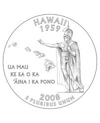 Small Picture USA Printables State of Hawaii Coloring Pages Hawaii State Quarter