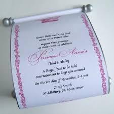 Scroll Birthday Invitations Royal Princess Birthday Invitation Scroll Artful Beginnings