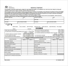 Monthly Report Template Word Format For Monthly Report] Monthly Management Report Template 100 78