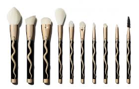 our gothic hearts are swooning over these new beetlejuice and medusa themed sonia kashuk brush sets