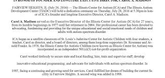 illinois center for autism  ica to re dedicate building