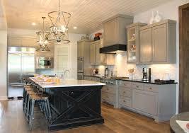 image of black grey kitchen cabinets