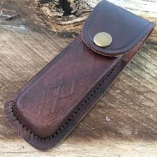 5 real leather sheath pocket folding knife multi tool case pouch holster new