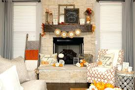 decorating ideas for fireplace mantel with tv above 1 rustic fall mantle decorations 3 ways hoopla