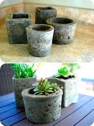 making cement planters diy large flower pots