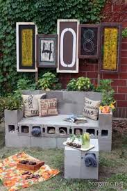 the bricks furniture. Again: All You Need Are Some Bricks And Can Make A Complete Set Of Garden Furniture. The Furniture