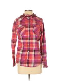 Legendary Whitetails Clothing Size Chart Details About Legendary Whitetails Women Pink Long Sleeve Button Down Shirt S