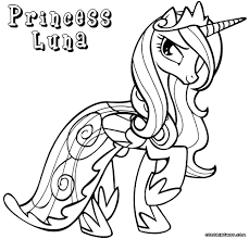 attractive princess luna coloring pages to and print