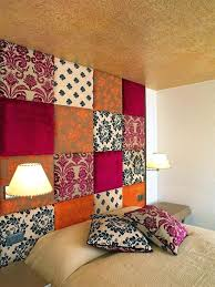 fabric panel wall art collection of with embellishments brown beige field