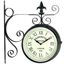 garden clocks station double sided clock stylish s for the home and garden outside clocks bq garden clocks large wall clocks outdoor clocks ireland