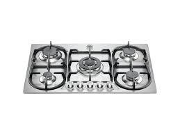75 5 burners triple ring hob bertazzoni la germania stainless