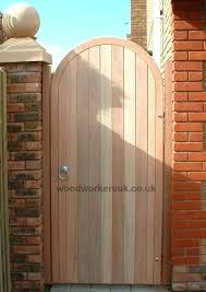 wooden garden gates gate semi circular arched hardwood expectations made to measure glasgow more beautiful garden gates