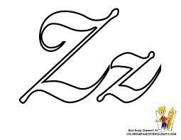 Coloring Pages Alphabet Z coloringkidsboys