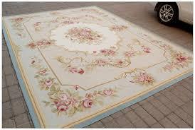 aubusson rug 8x10 pastel blue pink ivory aubusson rug 8x10 shabby chic
