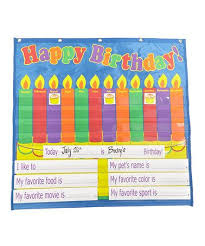 Take A Look At This Dry Erase Birthday Pocket Chart By Blow