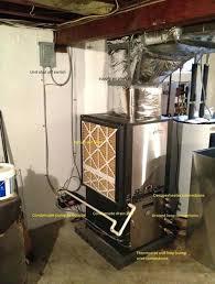 diy heat pump install installed in basement