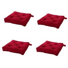 amazon ikea malinda chair cushion chair pad red set of 4 home kitchen