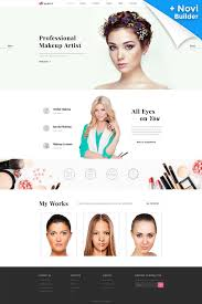 makeup artist websites templates makeup artist cosmetics responsive website template web design