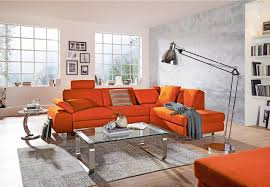 Wohnlandschaft In Textil Orange In 2019 Wohnen Haus Deko