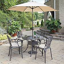 Outdoor dining sets with umbrella Dining Room Home Styles Largo 5pc Outdoor Dining Set With Umbrella And Cushion Sears Dining Sets Round Sears