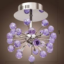 latest purple crystal chandelier lighting with lightinthebox 6 light fl shape k9 crystal ceiling light purple